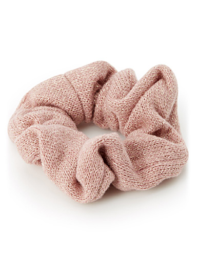 Sparkly knit scrunchie