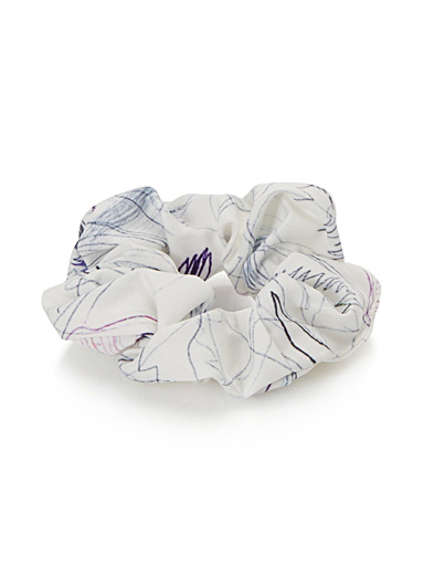 Traced artwork scrunchie