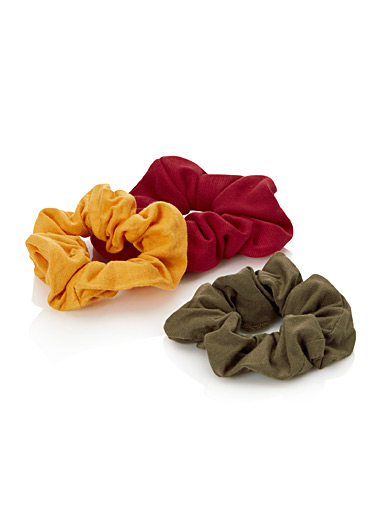 Colourful jersey scrunchies <br>Set of 3