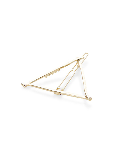Triangle barrette