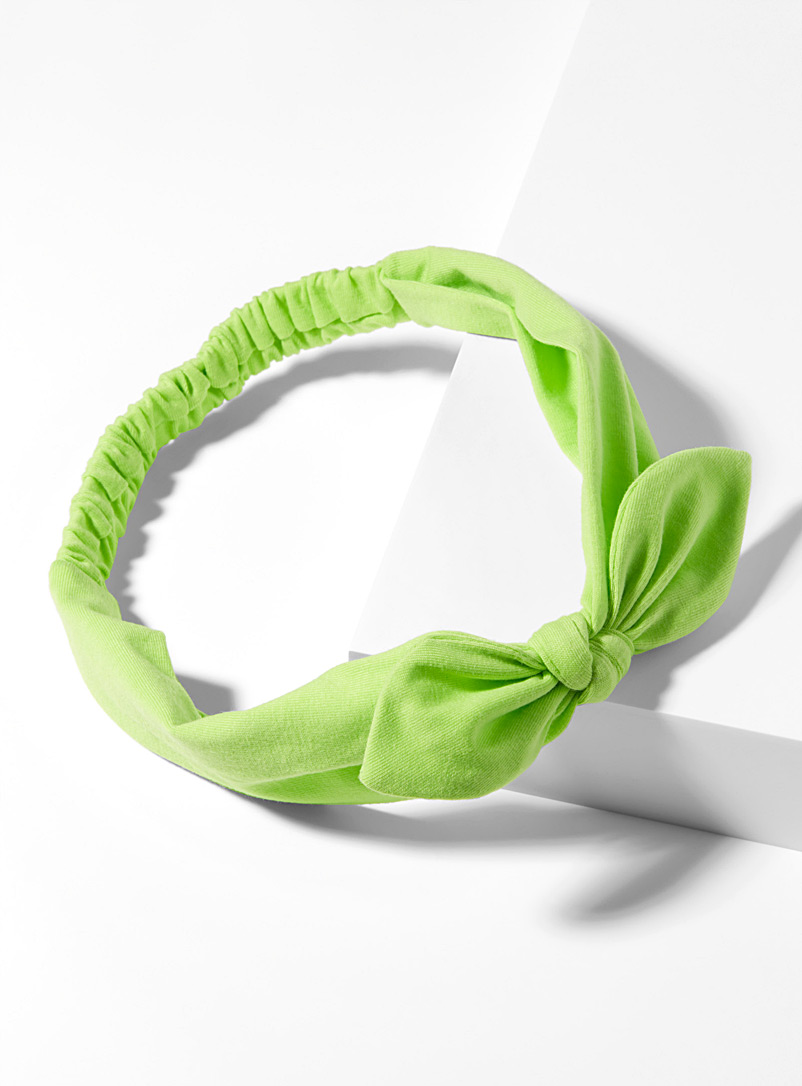 Solid mini-bow headband - Headbands - Lime Green