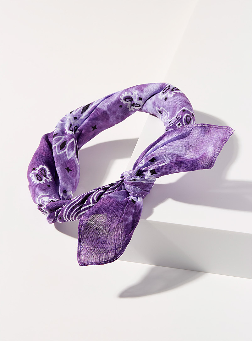 Simons Lilacs Tie-dye knotted headband for women