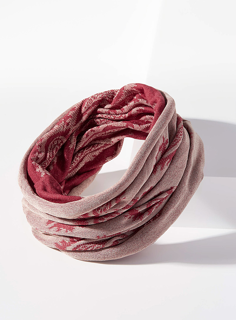 Paisley wide reversible headband