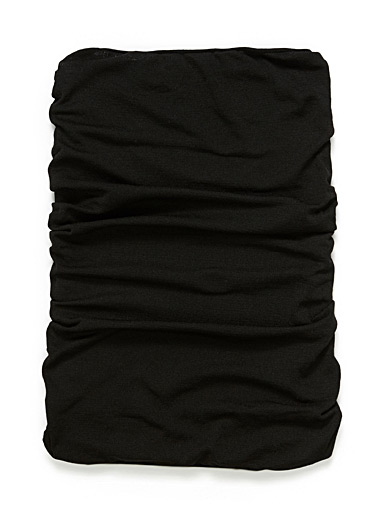Simons Black Solid wide headband for women