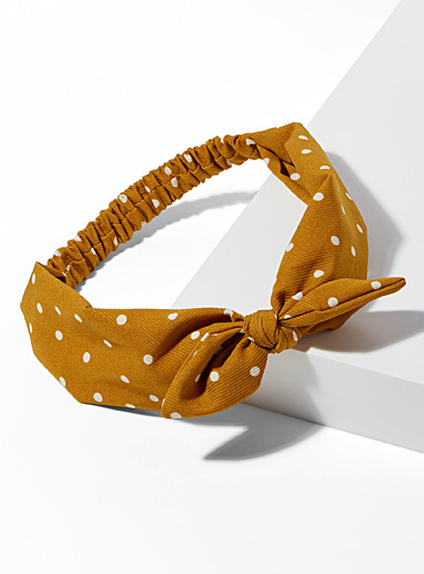 Polka dot headband
