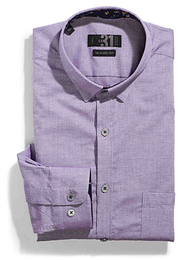 Chambray lilac shirt  Semi-tailored fit