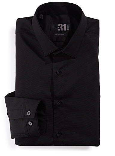 Sleek stretch shirt <br>Tailored fit