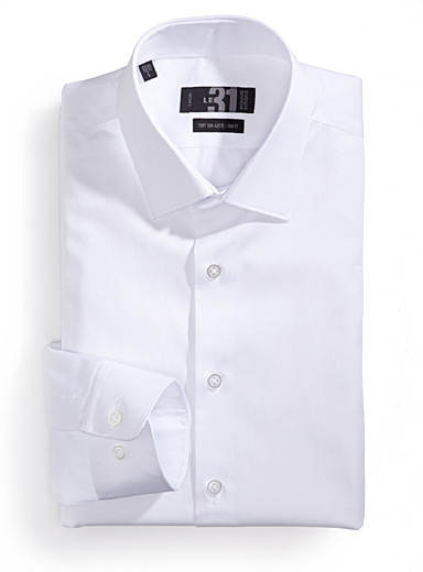Polished cotton shirt  Semi-tailored fit