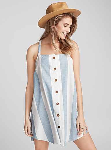 Drew wide stripe beach dress