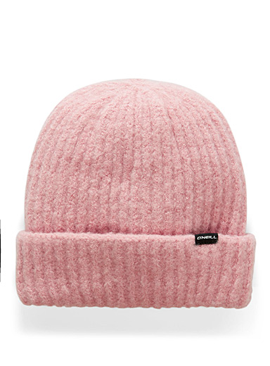 Fold Over ribbed soft felt tuque