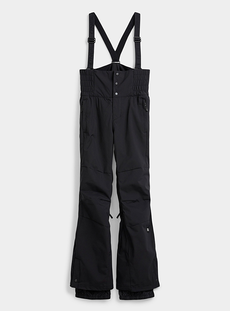 O'Neill Black High-waisted suspender snow pant  Fitted style for women
