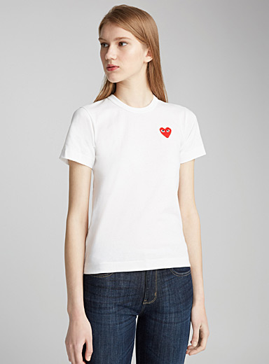Mini heart logo white T-shirt
