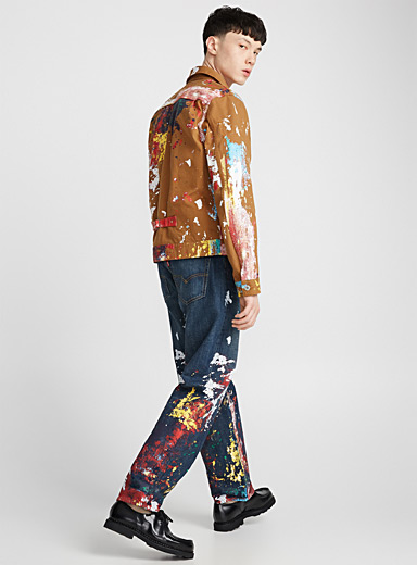 Paint splatter loose jean