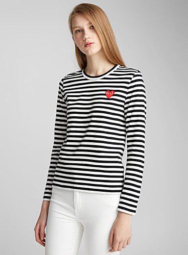 Signature logo sailor stripe T-shirt
