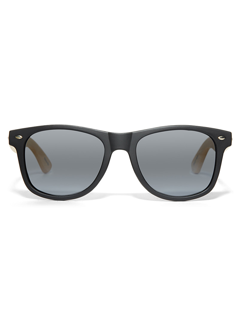 Simons Black Rick retro square sunglasses for women