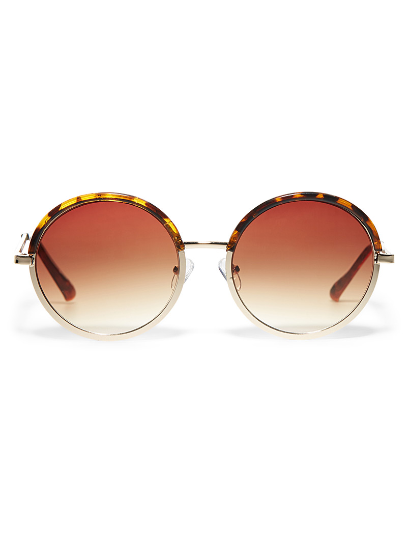 Colleen round sunglasses - Less than $50 - Light Brown