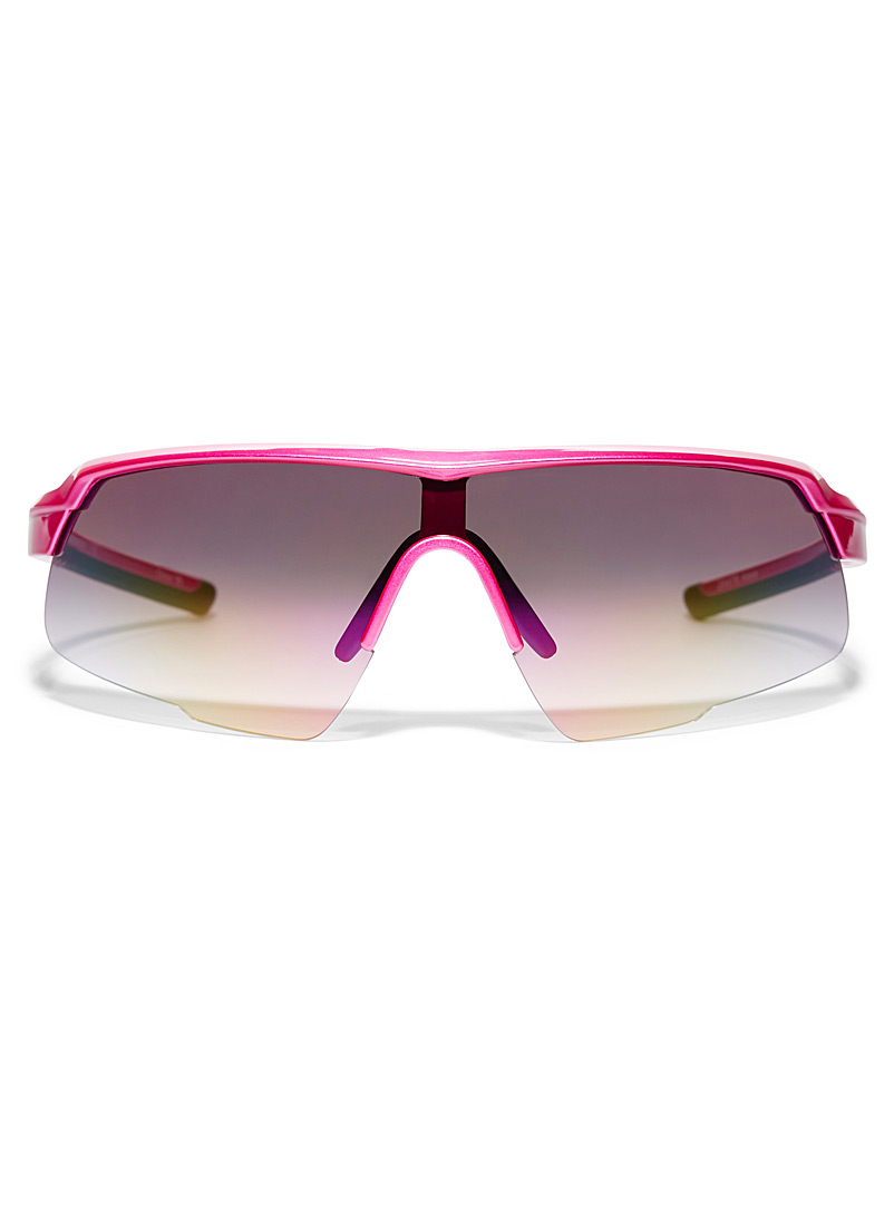 Simons Pink Alexa sporty sunglasses for women