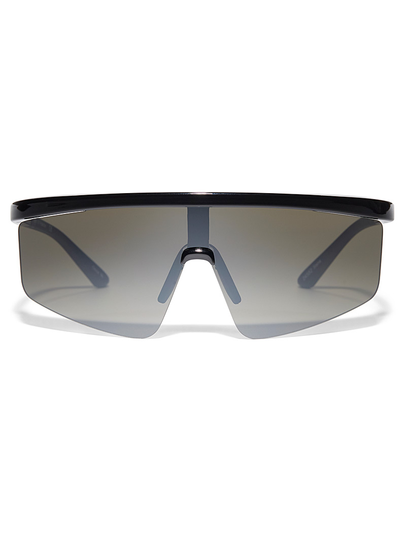 Simons Black Stania visor sunglasses for women