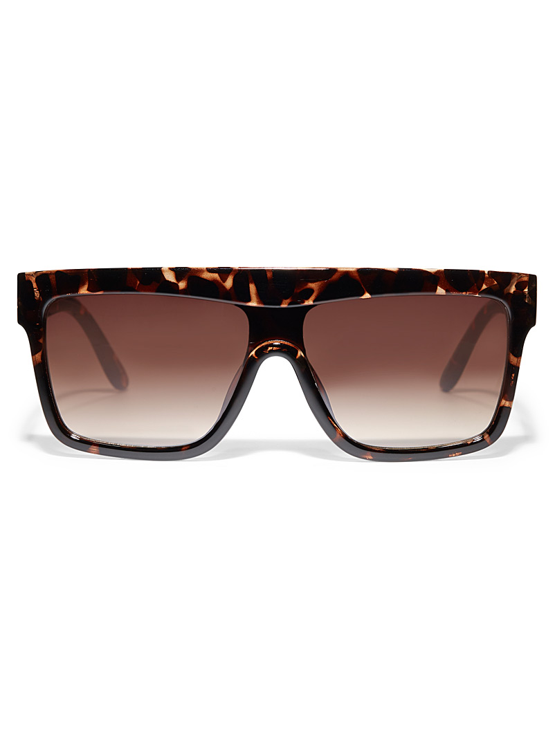 Simons Assorted brown  Lucy wide frame sunglasses for women