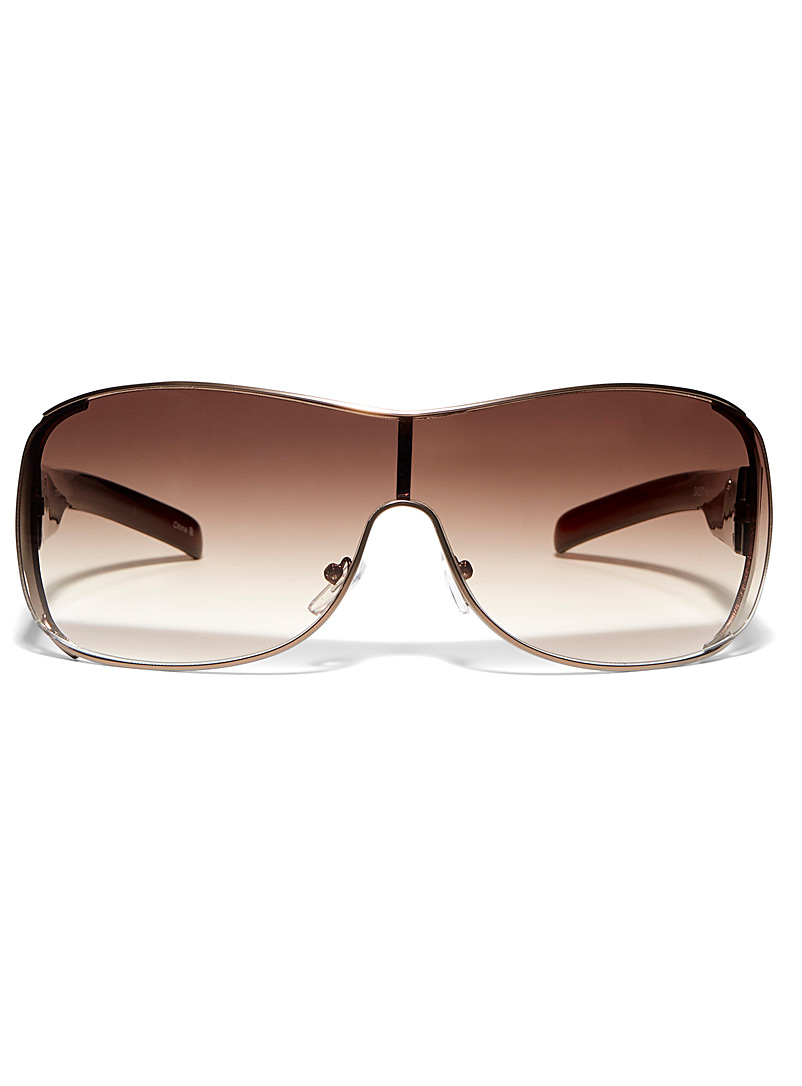 Simons Brown Kendra visor glasses for women