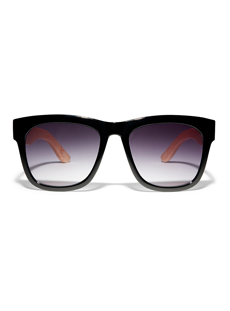 Simons Black Angie square sunglasses for women