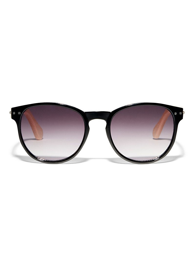 Simons Black Danni round sunglasses for women