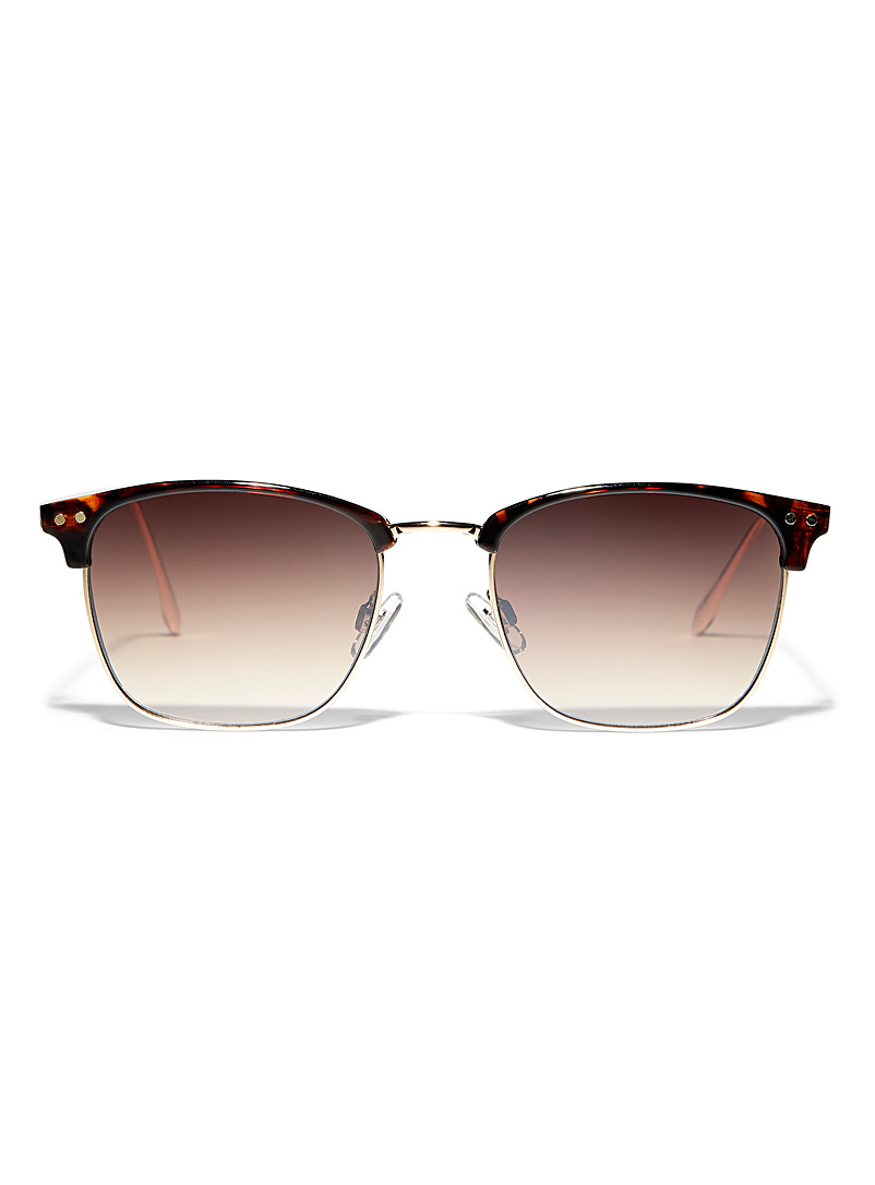 Simons Light Brown Carmen square sunglasses for women
