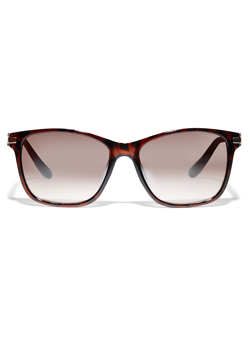 Simons Brown  Summer square sunglasses for women