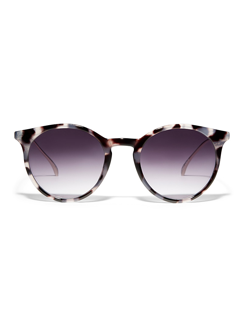 Simons Patterned Black Claire round sunglasses for women
