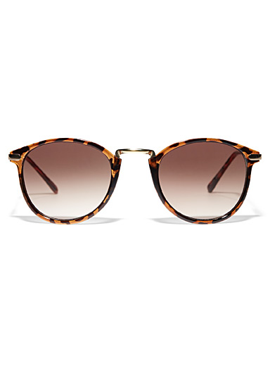 Simons Brown  Blossom round sunglasses for women