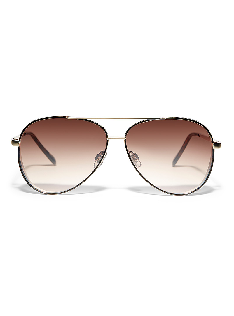 Simons Black Gen aviator sunglasses for women