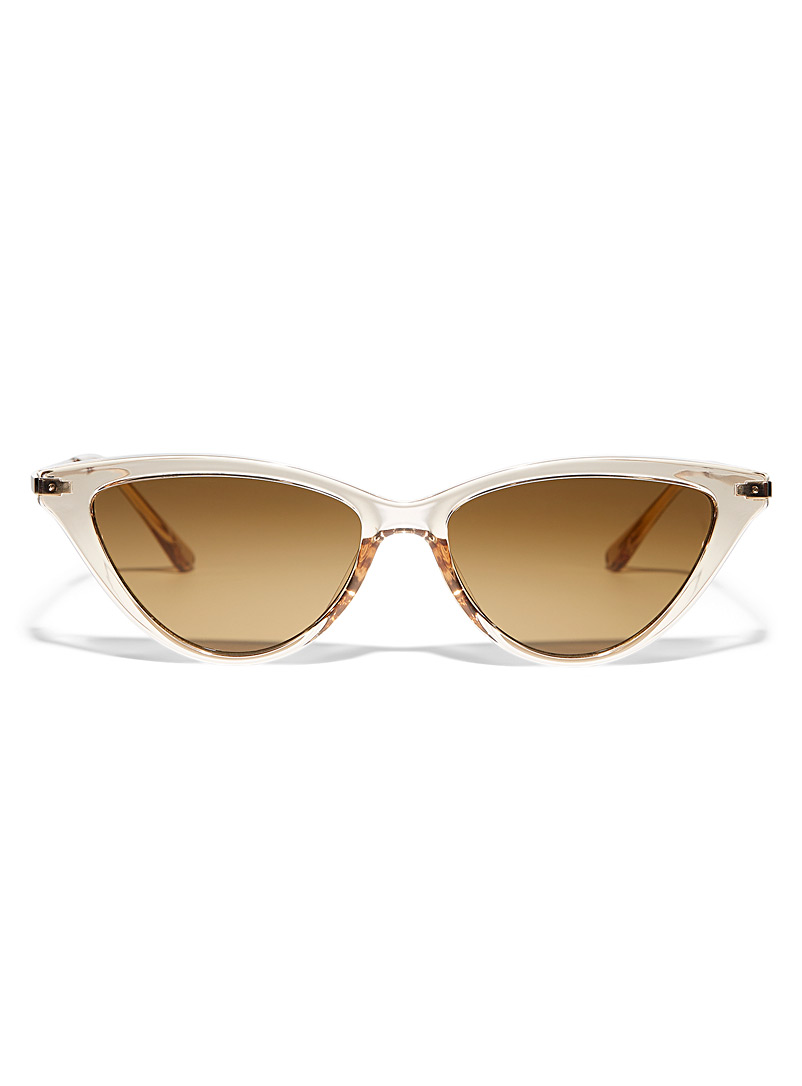Simons Cream Beige Maggy cat-eye sunglasses for women