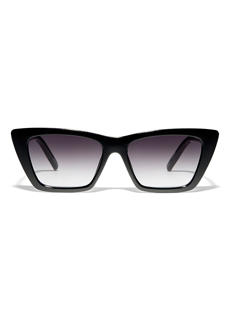 Simons Black Corrie rectangular sunglasses for women