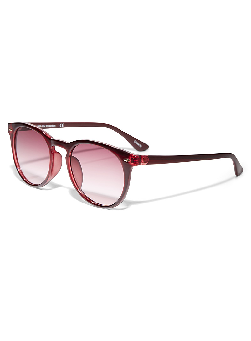Simons Ruby Red Nola round sunglasses for women