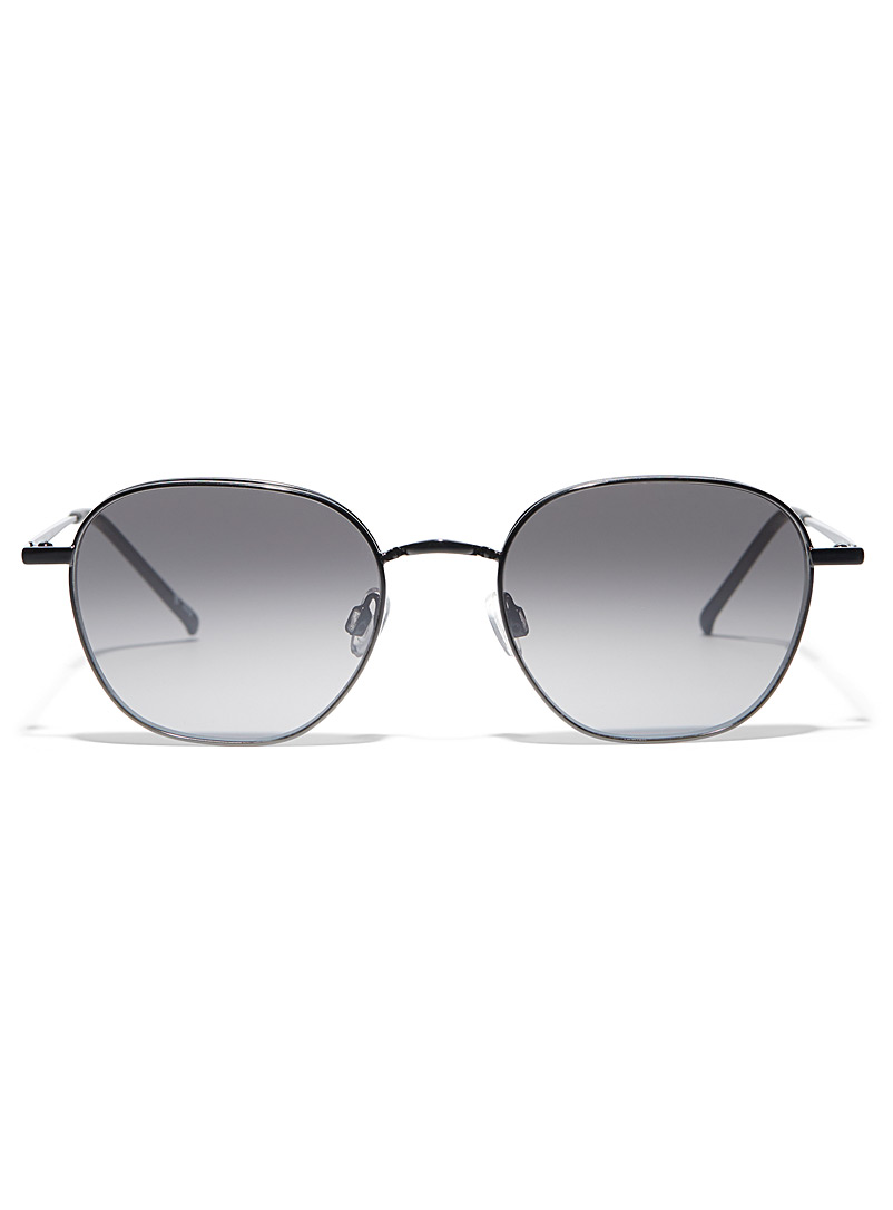 Simons Black Marla round sunglasses for women