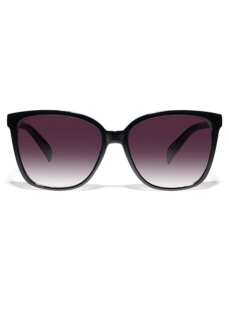 Simons Black Bloom square sunglasses for women