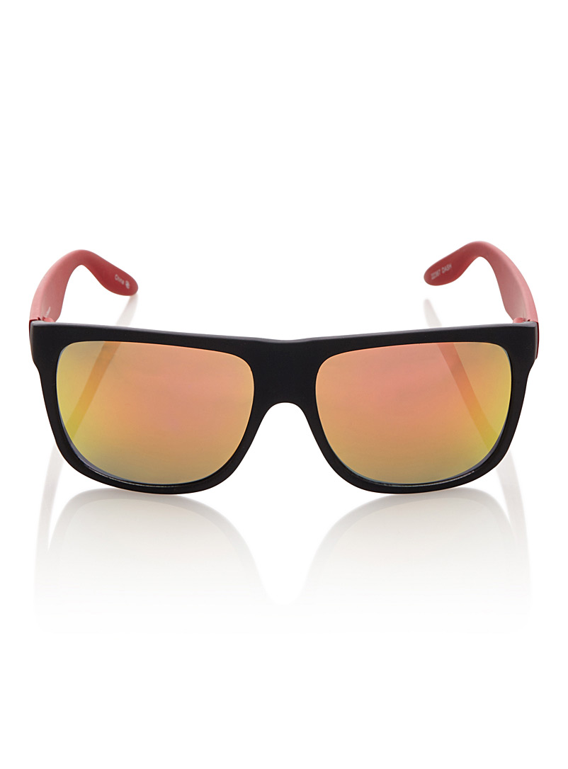 Dash rectangular sunglasses - Square - Patterned Red