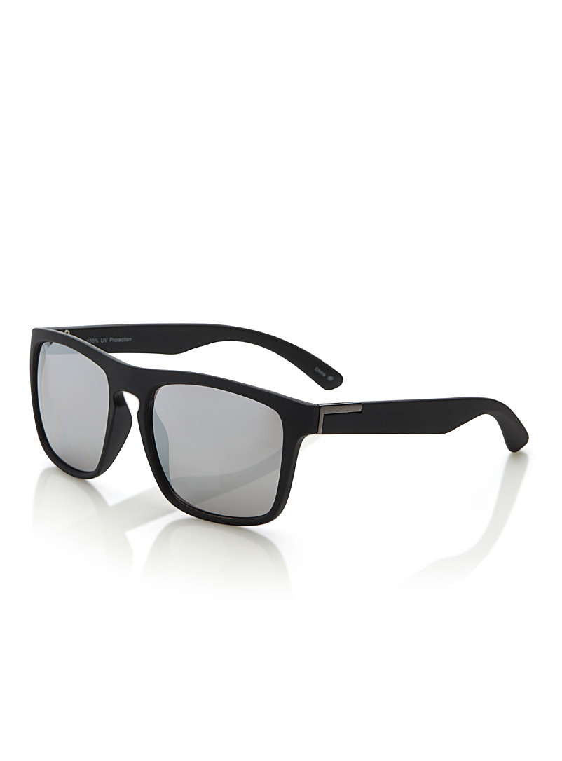 Le 31 Black Travis rectangular sunglasses for men