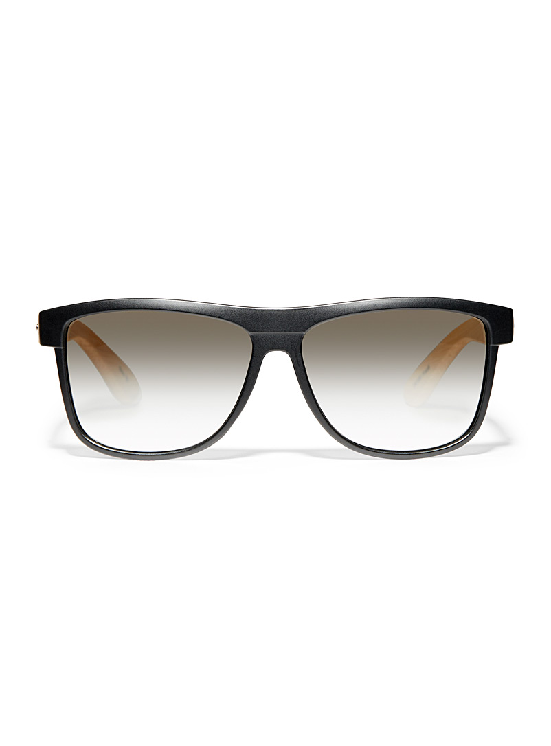 Le 31 Light Brown Frank square sunglasses for men