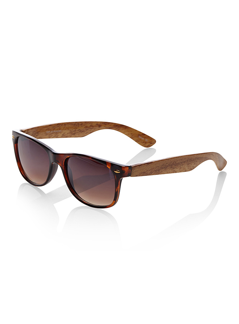 Le 31 Patterned Brown Ed retro sunglasses for men