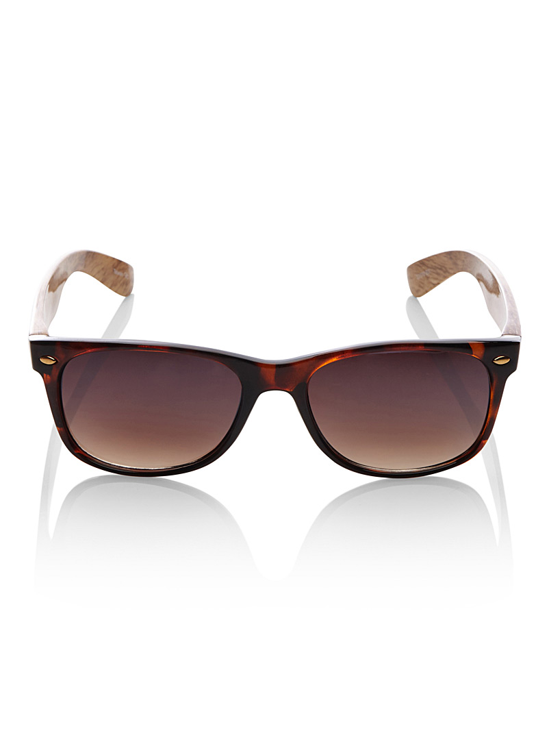 Ed retro sunglasses - Retro - Patterned Brown