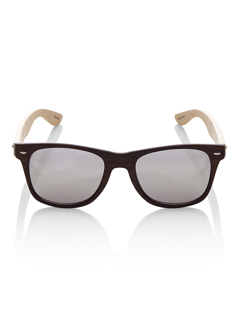 Rick retro sunglasses - Retro - Patterned Brown