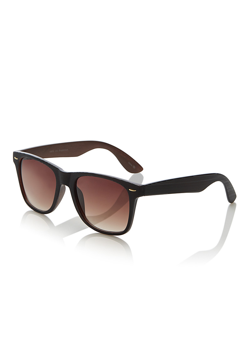 Le 31 Brown Hudson retro square sunglasses for men