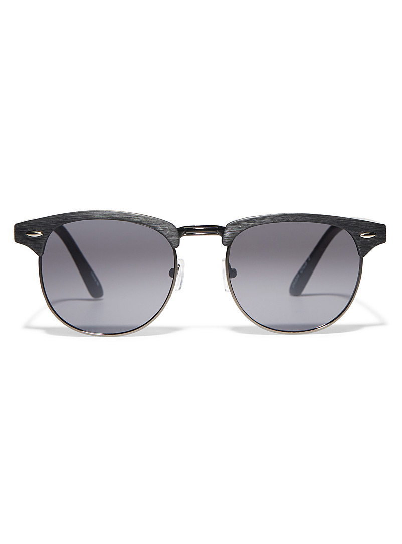 Le 31 Black Club semi-rimless sunglasses for men