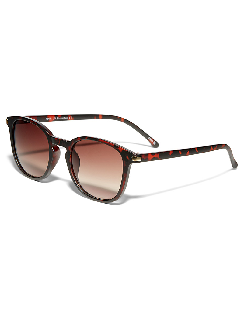 Hector retro sunglasses - Square - Patterned Brown