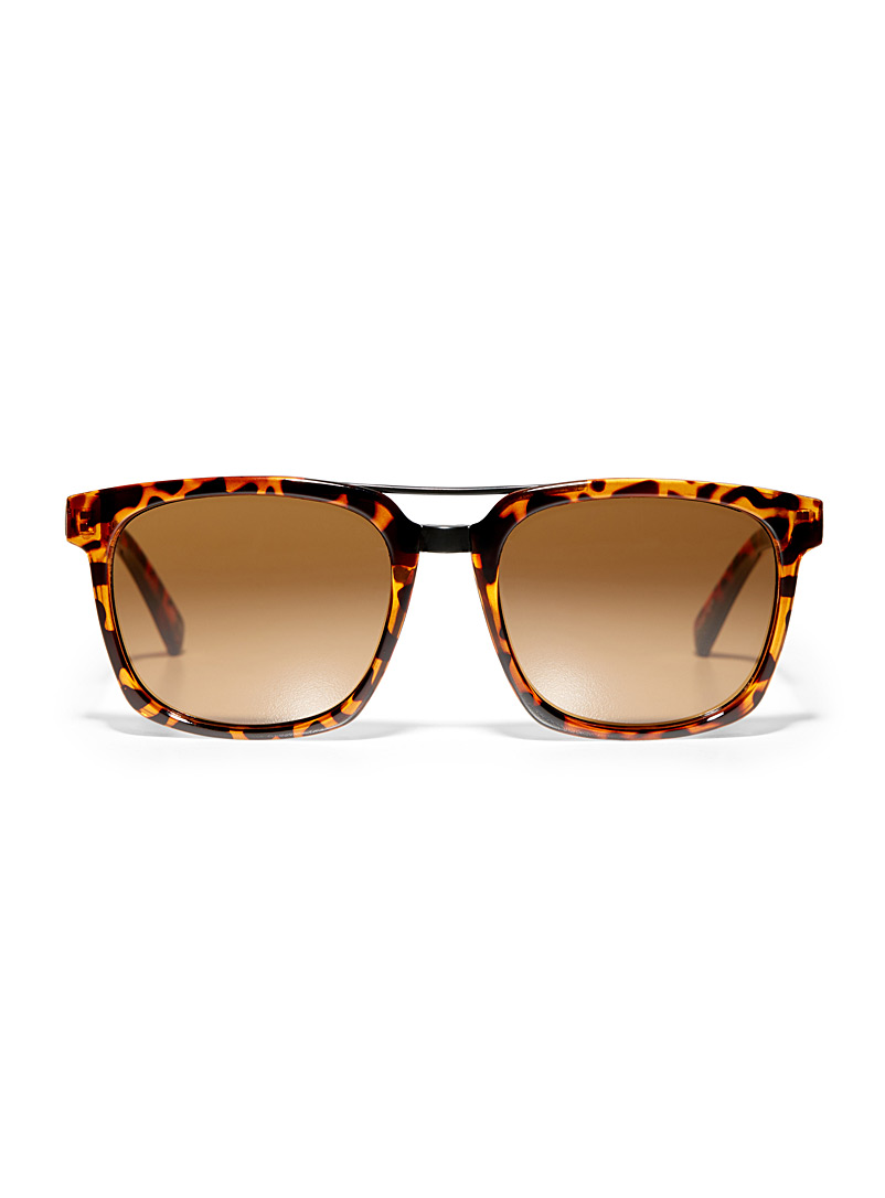 Kyle square sunglasses - Less than $50 - Patterned Brown