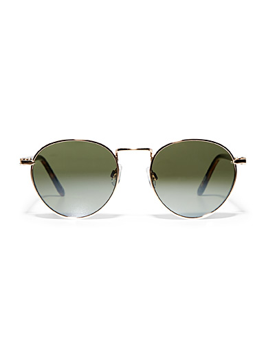 Le 31 Golden Yellow Ziggy sunglasses for men