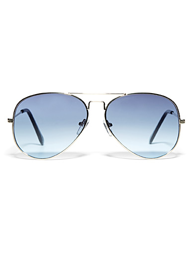 Le 31 Blue Sea Breeze aviator sunglasses for men