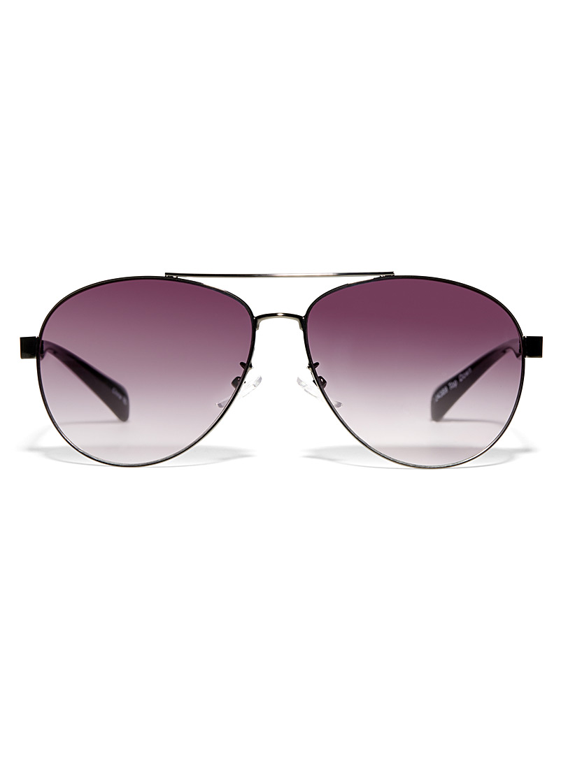 Le 31 Charcoal Topdown aviator sunglasses for men