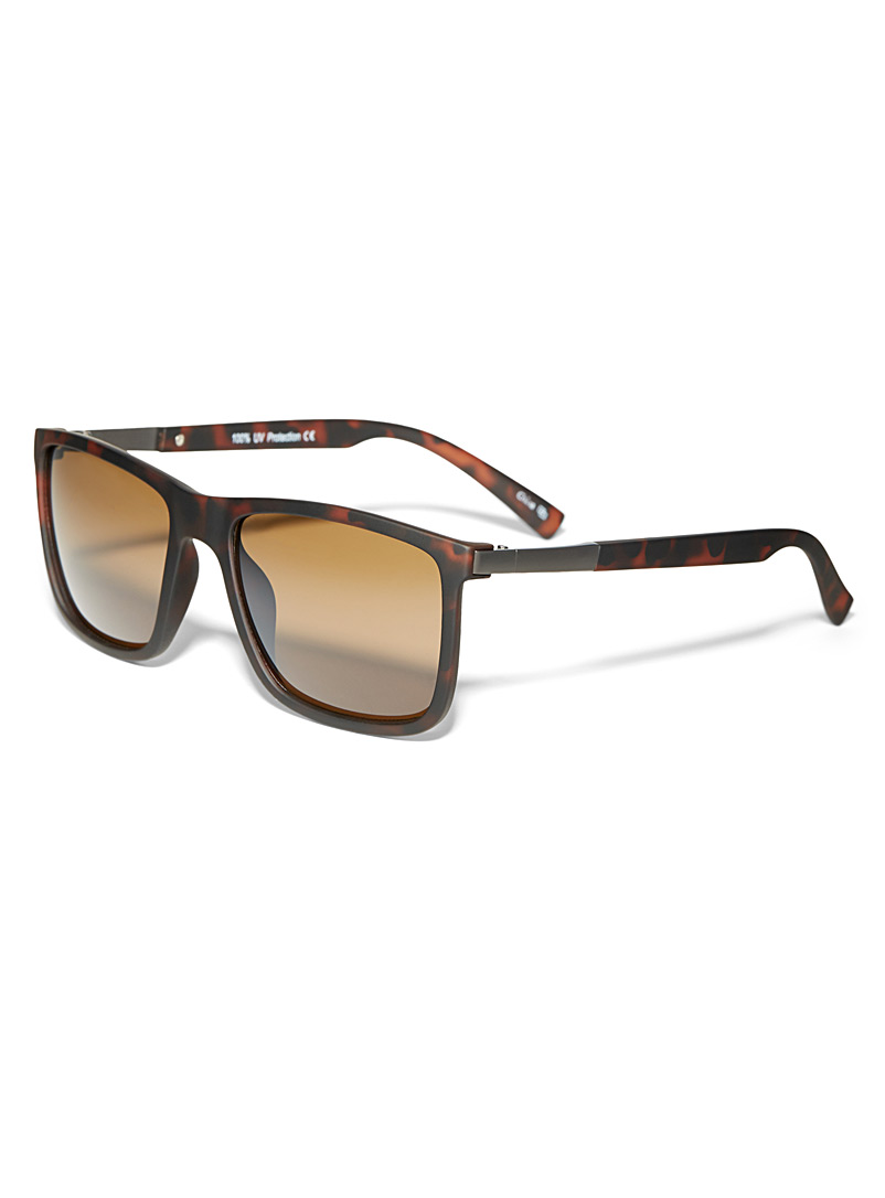 Le 31 Patterned Brown Bentley square sunglasses for men
